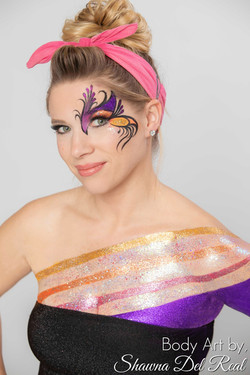 body glitter painting los angeles