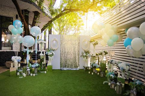 Party wedding decoration outdoor. Vintag