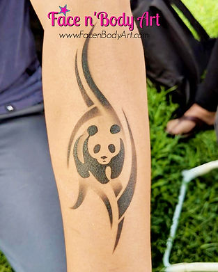 airbrush tattoosairbrush tattoo panda.JP