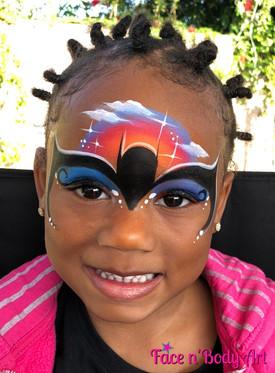 batgirl face painting