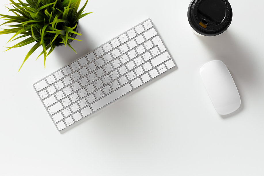 Laptop computer, coffee