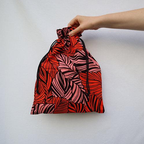 The Drawstring Bag - RED/PINK