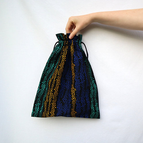 The Drawstring Bag - OCEAN STRIPES