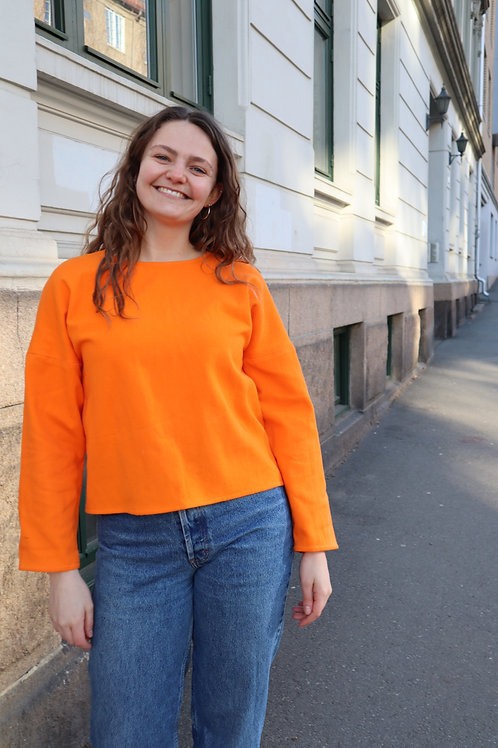 The Simple Cotton Sweater - ORANGE