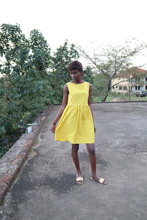 The Flowy Friday Dress - YELLOW