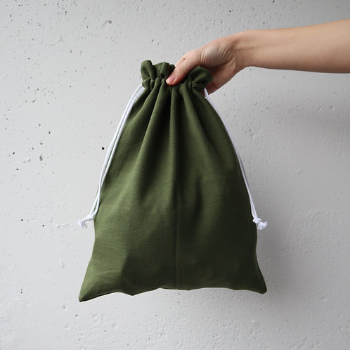 The Drawstring Bag - OLIVE