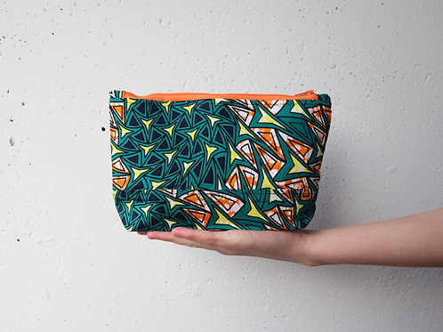 The Tugende Pouch - GREEN/ORANGE