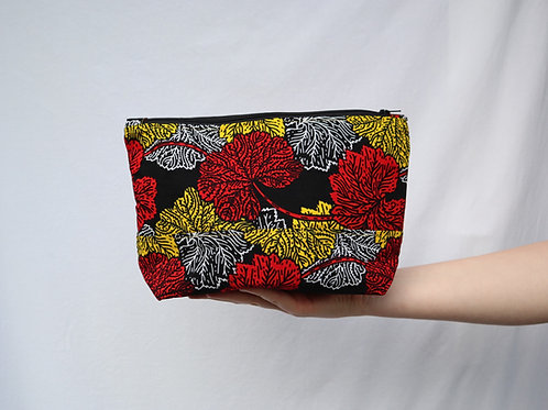 The Tugende Pouch - RED and YELLOW flowers