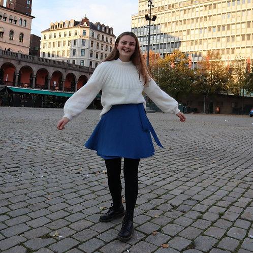 The Wrap Skirt - BLUE - cotton