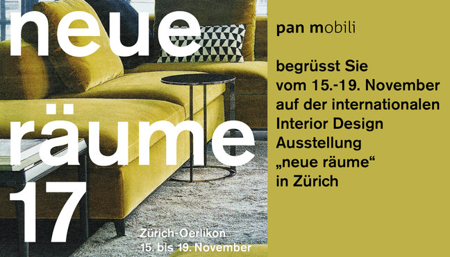 "pan mobili auf der internationalen Design Messe ""neue räume"" in Zürich"