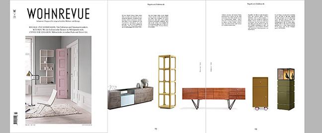 """pan mobili in der Juli Ausgabe der """"Wohnrevue"""""""