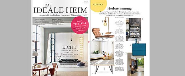 """pan mobili in der November Ausgabe von """"Das Ideale Heim"""""""
