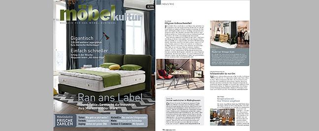 """pan mobili in der August Ausgabe von """"Möbel Kultur"""""""