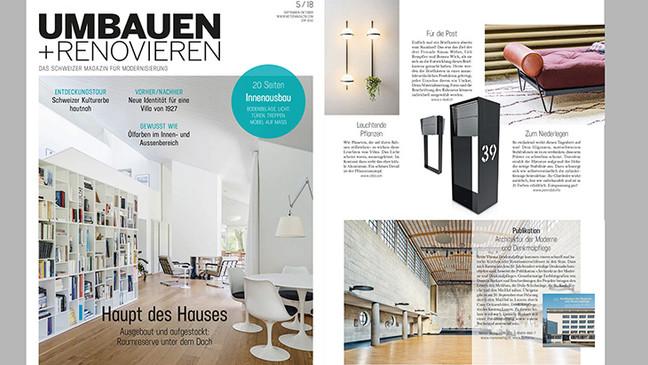 Daybed Kitanda in der Zeitschrift Umbauen und Renovieren 5/18
