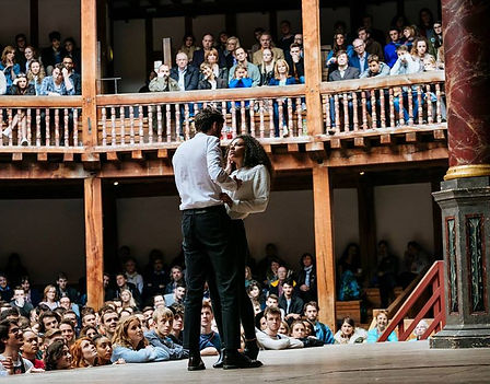 Rose Bruford Students. The Globe Theatre, Wanamaker Festival.