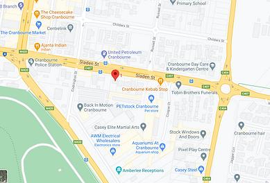 Sladen Street Clinic map.png