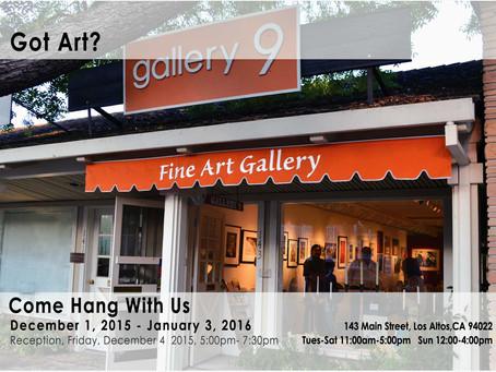 Got Art?  December Members show at Gallery 9