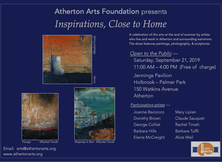 """Atherton Art Foundation invite you to the exhibition """"Inspirations, Close to Home"""""""