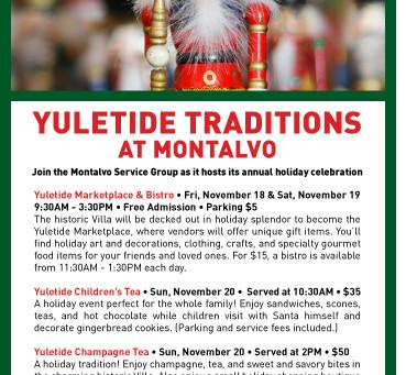 Montalvo Yuletide Marketplace 2016