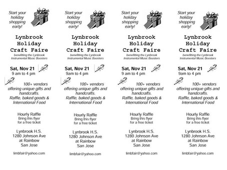 Lynbrook Holiday Craft Faire 2015