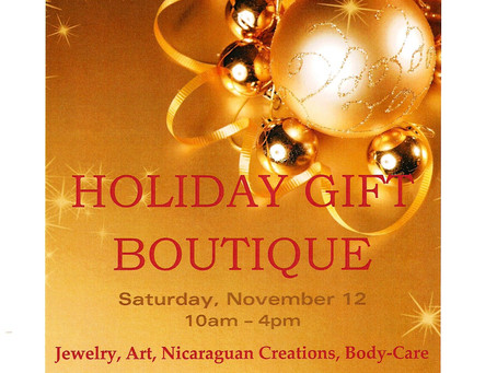 All Saints' Holiday gift Boutique 2016
