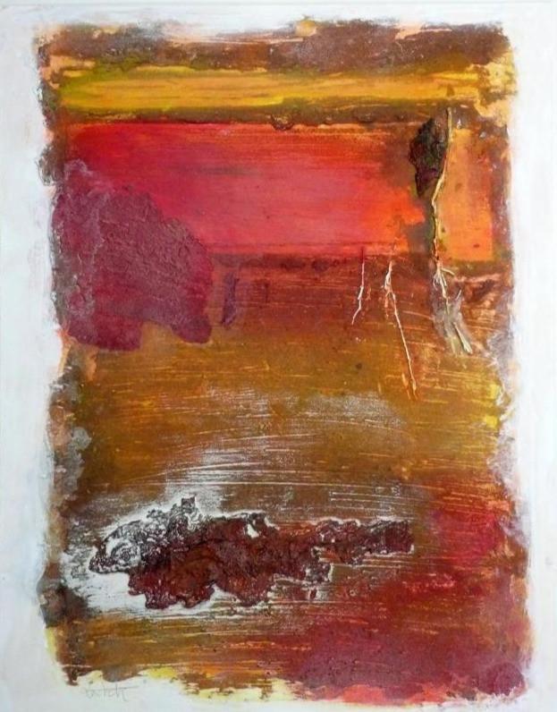 "My Sedona rocks in Sunset 11""x14"""