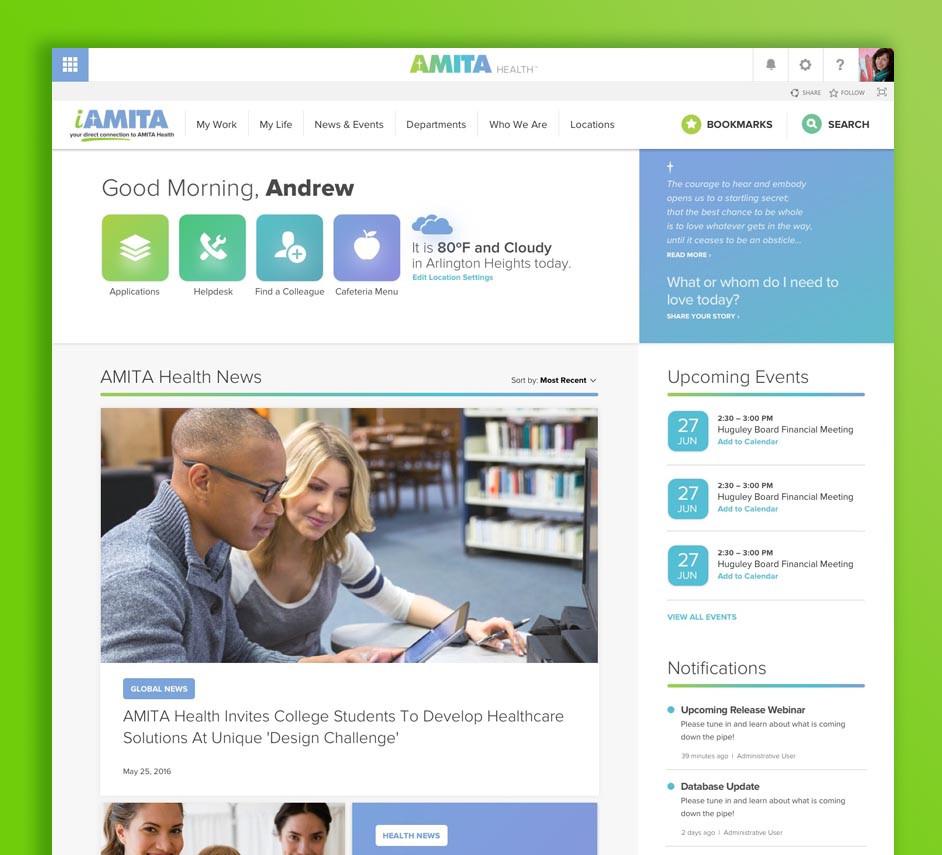 AMITA Health (Intranet)