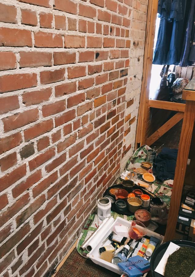 Brick repaint (before on left side)