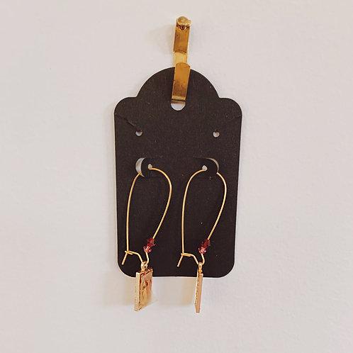 Prayer Card Earrings