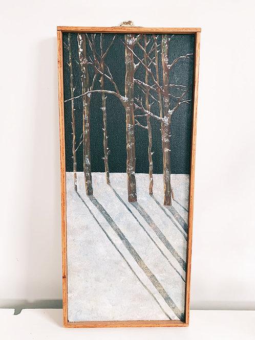 Jack Pine's Shadow Wood framed