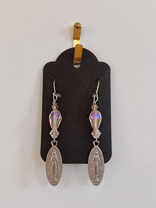 Vintage Virgin Mary Earrings