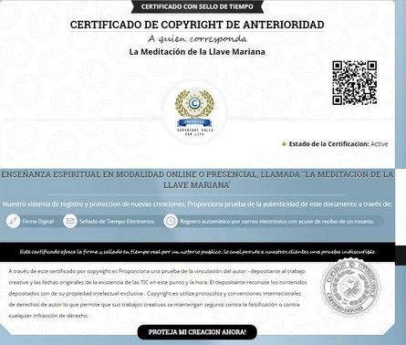 copyright La Meditación de la Llave Mariana