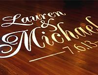 Select Receptions custom monogram projection