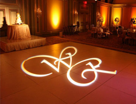 Monogram and Name Projection for Wedding Receptions in CNY