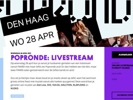28/4 Popronde Den Haag - livestream vanuit het Paard - meld je aan!