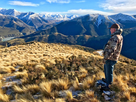 Waimak View Red stag hunting in New Zealand with Backcountry New Zealand Outfitters