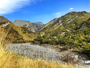Typical New Zealand Tahr hunting terrain