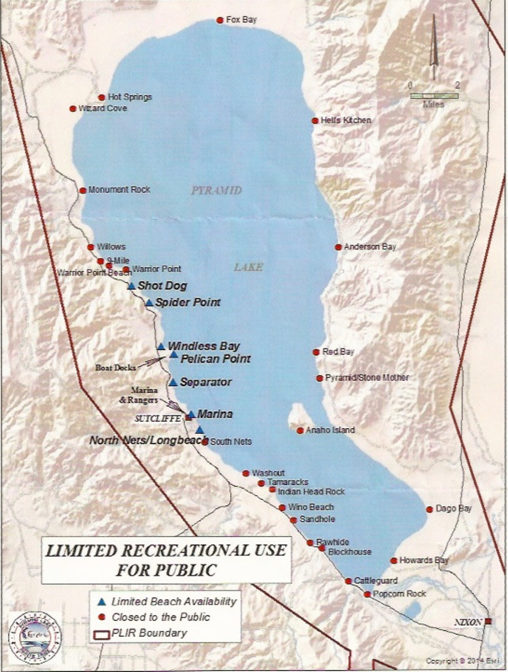 Pyramid Lake- Limited Access Points