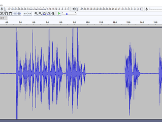 Using Audacity to clean client audio recordings