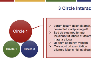 3 Circle Click and Reveal Interaction