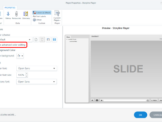 Changing the Default eLearning Course Frame Formatting in Storyline