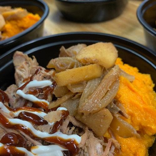BBQ Pulled Pork, Sweet Potatoes