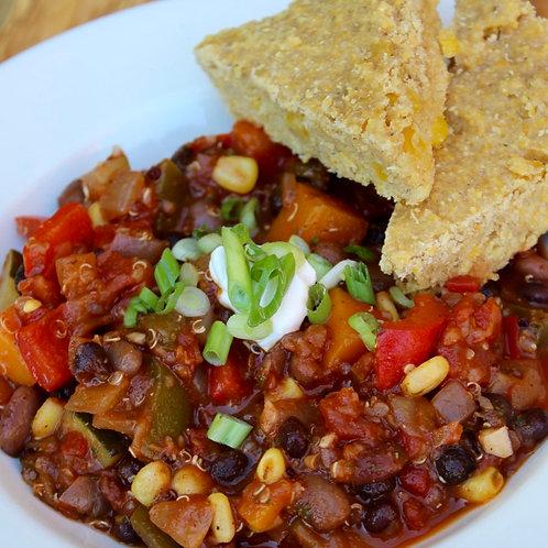 Hearty Vegetable & Quinoa Chili