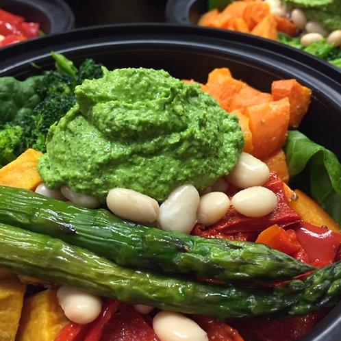 Veggies, Grains & Pesto Bowl