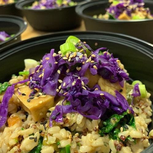 Vegan Fried Rice & Quinoa Bowl