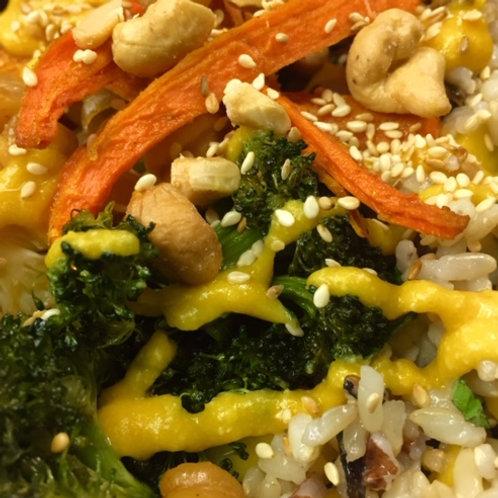 Roasted Veggie & Wild Rice Bowl