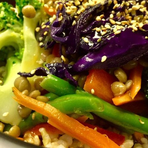 Brown Rice, Lentil &  Veggie Stir Fry
