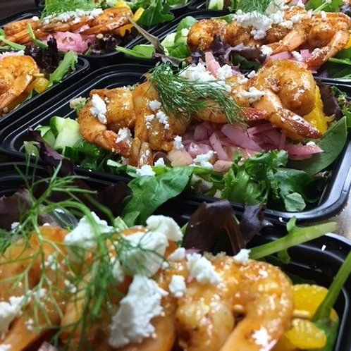 Cajun Shrimp Skewer Salad