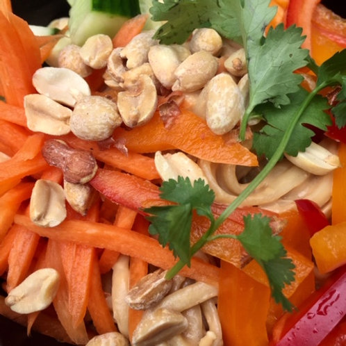 Asian Peanut Noodles & Veggies