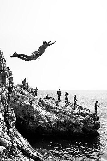 Plongeurs à Rauba Capeu